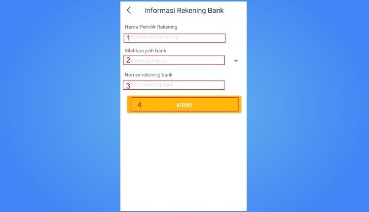 pinjaman online tanpa rekening bank