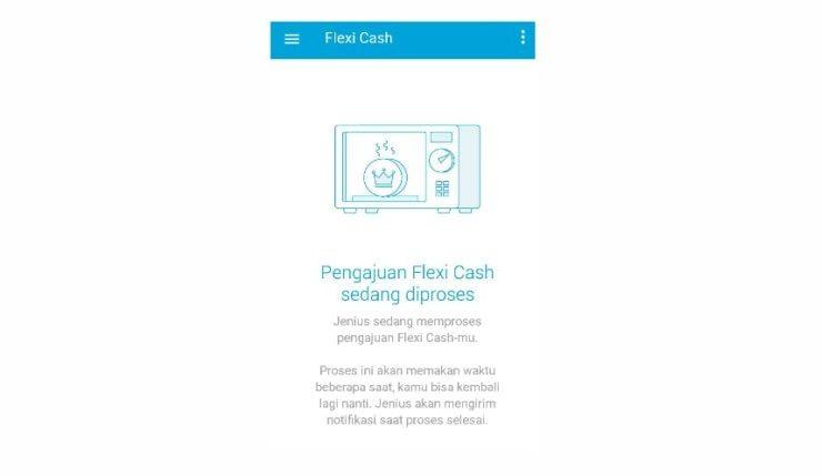 pengajuan flexi cash sedang diproses