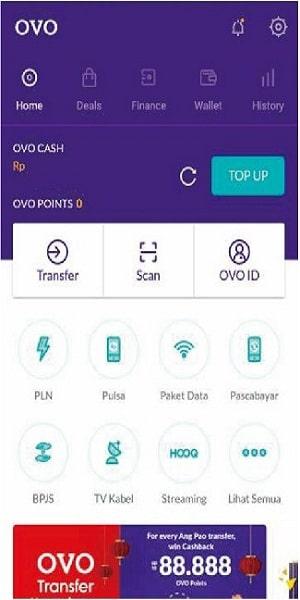 Buka aplikasi Grab di smartphone
