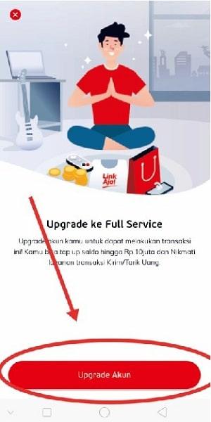 cara upgrade e wallet linkaja