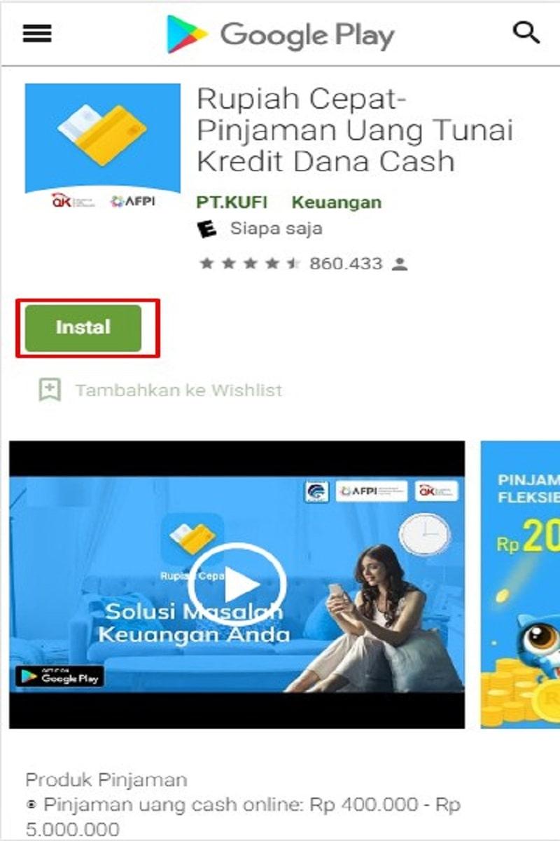 install aplikasi rupiah cepat